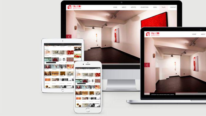 Sito Web Galleria Ellebi | Sans Serif Studio - Studio di grafica e comunicazione integrata in Calabria